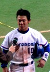 サヨナラ打を放った新田選手のヒーローインタビュー
