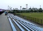 徳島県鳴門総合運動公園球技場のメインスタンド