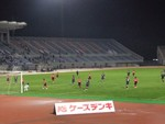 サッカースクールの前座試合