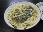 「麺八」のかけうどん+なすの天ぷら