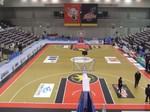 岸和田市総合体育館入場口からの眺め
