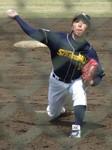 鷺宮の二番手・小高投手は3回1/3を1安打ピッチング
