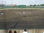 大森グランド野球場ネット裏からの眺め