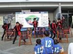 徳島文理大の学生による太鼓の演奏