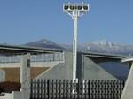 総合球技場とアルプス連峰