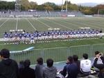 観客席に挨拶する徳島の選手たち