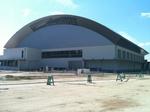 建設中の北条スポーツセンター体育館