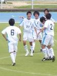 優勝を決めて喜ぶ徳島市立の選手たち