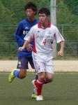 先制ゴールを決めたOKFCのMF金俊和