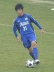 勝ち越し点をアシストした吉野川MF重本